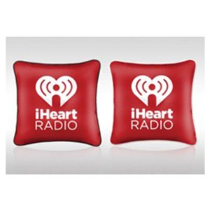 I Heart Radio Red Pillow
